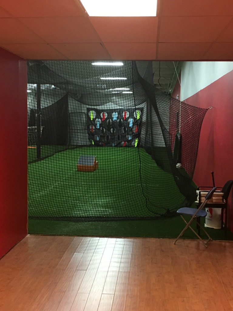 Game On has two tunnels and L screens for baseball/softball pitching and hitting.